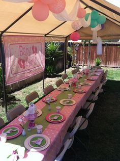 Baby girl baby shower. Pop up for the backyard if it is hot