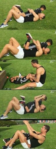 Ronaldo training with his son ❤