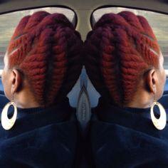 CurlsUnderstood.com: Natural Hair. Updo. Red Hair
