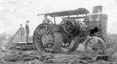 Richard K. Boney with his first tractor in Madison Parish