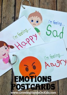 Teach Emotional Development with Children with emotions postcards
