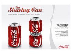 "#cocacola #creative #adv ""Sharing a #coke"""