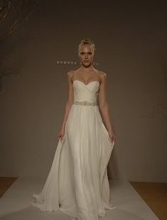 Romona Keveza Collection Sweetheart Sheath Wedding Dress with Natural Waist in Silk Satin. Bridal Gown Style Number:32347718
