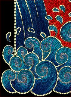 Mosaic Waves: by plutovman Mosaic Crafts, Mosaic Projects, Mosaic Art, Mosaic Glass, Mosaic Tiles, Glass Art, Stained Glass, Mosaic Madness, Dot Art Painting