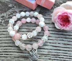 náramek z minerálu Sandro, Ideas Para, Jewelry Bracelets, Bedding, Swarovski, Meditation, Diamonds, Fashion, Jewels