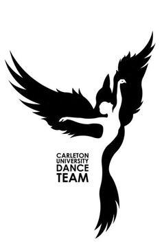 Carleton University Dance Team Logo on Behance -You can find Behance and more on our website.Carleton University Dance Team Logo on Behance - Behance Illustration, Illustration Vector, Pencil Art Drawings, Art Drawings Sketches, Dancing Drawings, Behance Branding, Negative Space Art, Silhouette Art, Stencil Art