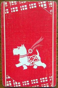 1930s DOG PLAYING CARD