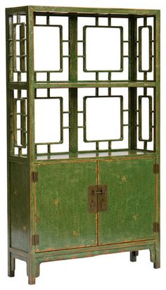 Chinese 2-Door Shelf by High Fashion Home
