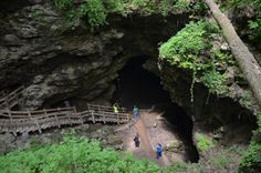 The park features many different limestone caves, arches and chimneys including Dancehall Cave, Hernado's Hideaway, Shinbone Cave, Wye Cave, and an unmarked cave within the dancehall cavern locally known as Steelgate Cave.