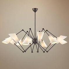 "Hudson Valley Buckingham 54"" Wide Old Bronze Chandelier - #9W696 | Lamps Plus"
