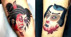 Namakubi design is a classic in Japanese tattooing and Acetates does them brilliantly! ow.ly/UfoV30024dR