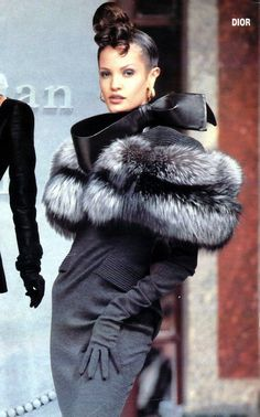 Christian Dior grey fur