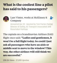 clever one. SAS is the airline I always fly with. It's really good