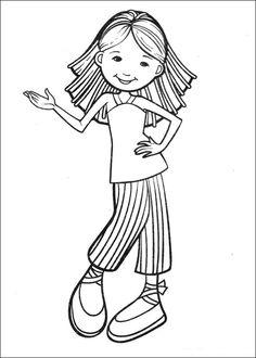 Groovy Girls Målarbilder för barn. Teckningar online till skriv ut. Nº 28