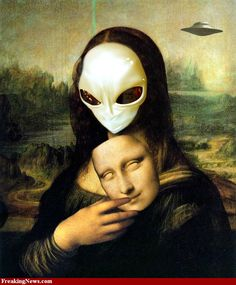 Mona lisa alien
