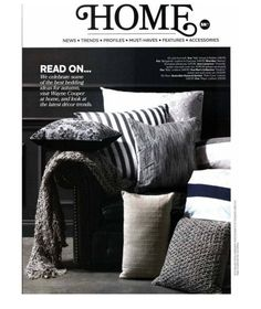 Style magazine featuring our Balu cushion