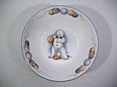 "Royal Doulton Snowman Gift Collection ""BOXING"" Bowl - 5 7/8"" Cereal/Oatmeal #ROYALDOULTON"