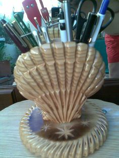 Woodworking carved in wood pen for desktop by pitart on Etsy,