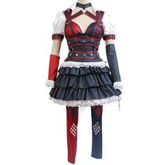 Batman: Arkham Knight Harley Quinn Dress Cosplay Halloween Costume