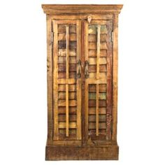 Check out this item at One Kings Lane! Teak Shutter Door Cabinet