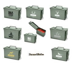 Personalized Vintage Military Style Metal Ammo Storage Ammunition Box Army Can Coming Out Party, Ammo Storage, Shotgun Shells, Ammo Cans, Survival Life Hacks, Hobby Room, Vinyls, Military Fashion, Hunters