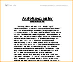 Biography narrative essay