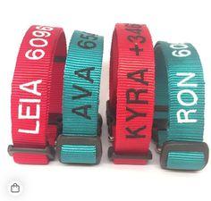 Collar personalizado de nylon en diferentes colores y tres tallas para perros. ❤️🐶 #indentificaatumascota #pinpetproductos #pinpetproducts #pinpet #collarperro