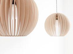 Aion - lampe bois bouleau brancher ensemble