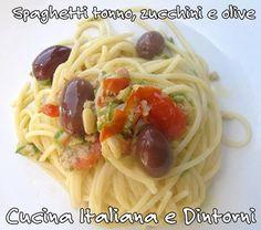 Voglia di estate anche sulla tavola? #Spaghetti #tonno, #zucchine e #olive.. semplici, veloci e gustosi per una pranzo leggero che non rinuncia al gusto. http://blog.giallozafferano.it/cucinaitalianaedintorni/spaghetti-tonno-zucchine-olive/