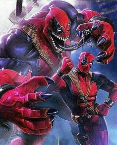 Get your dose of symbiote Deadpool and his vempool from Marvel: Contest of Champions . Marvel Dc Comics, Bd Comics, Marvel Art, Marvel Heroes, Marvel Venom, Captain Marvel, Thor Marvel, Deadpool Und Spiderman, Fantasy Characters