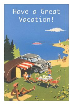 vintage summer love camping family