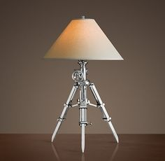 Royal Marine Tripod Table Lamp Polished Aluminum Possible table Lamps $325