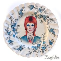 Vintage  Illustrated  David Bowie  Life On Mars  Wall