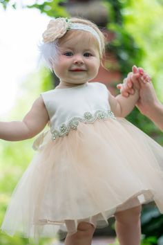 Baby Christening Dress Baptism Dress White baby by BabyGalore0