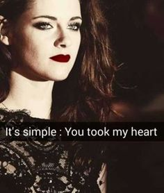 Yes, Kristen, you took my heart  Gn guys