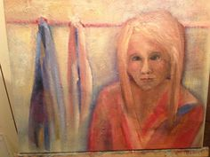 In the mirror. Oil on canvas.