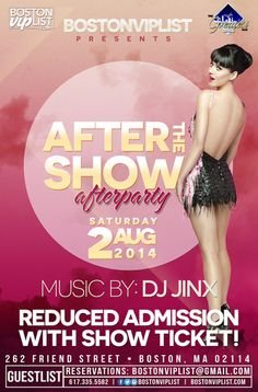 Saturday, August 2nd At The Greatest Bar  Party In Your Birthday Suit - Unofficial Katy Perry Afterparty  After you see Katy Perry come at you like a dark horse, come to the Greatest Bar for the unofficial afterparty. Show your concert ticket for reduced cover!   Text or Call: Sunny 617-335-5582 BostonVIPList@gmail.com