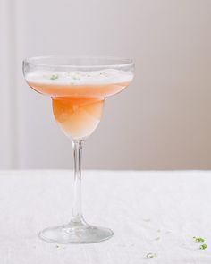 Grapefruit Margarita with Salt Foam
