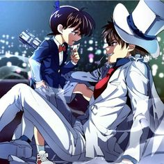 Conan and Kaito Kid >:3