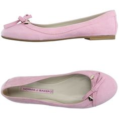 Norma J.baker Ballet Flats (395 TND) ❤ liked on Polyvore featuring shoes, flats, pink, round toe ballet flats, leather ballet shoes, flat pumps, leather shoes and pink ballet shoes