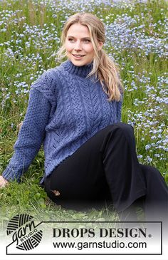 Cool Confidence / DROPS 216-25 - Kostenlose Strickanleitungen von DROPS Design Drops Design, Drops Kid Silk, Drops Baby, Knitting Patterns Free, Knit Patterns, Free Knitting, Drops Karisma, Magazine Drops, Yarns