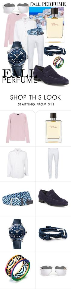 """City Walker Fall Perfume"" by bvn01 ❤ liked on Polyvore featuring beauty, Giorgio Armani, Hermès, Yves Saint Laurent, Lanvin, J.W. Anderson, To Boot New York, OMEGA and MIANSAI"