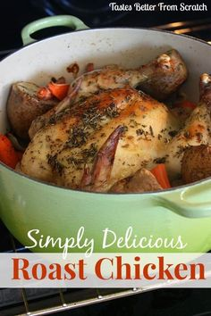 There's nothing simpler or more delicious than a roast chicken! Smear it in a seasoned herb/butter mixture, surround it with vegetables, and roast it in the oven for an hour! It's one of the easiest meals you'll ever make but it tastes amazing!! You could also make this in your slow cooker (cook on low...Read More »