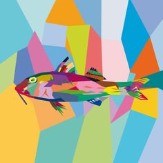Triglia. Adobe Illustrator. Tecnica Wpap. Autore Giacomo Longato 3Al