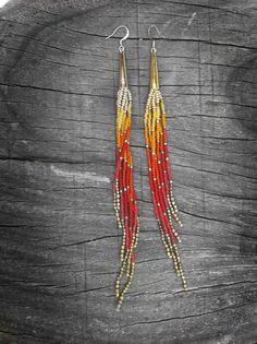 Epic Sunset Fringe Shoulder Dusters Extra Long Seed von Kadhi