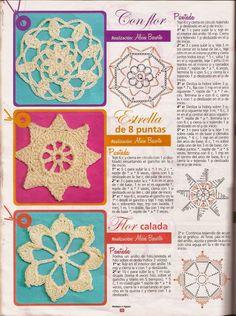 Revistas de crochet y tejidos gratis: clases de puntos para crochet