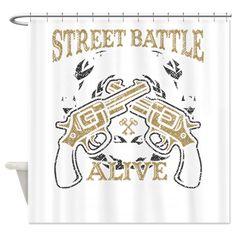 Street Battle Shower Curtain
