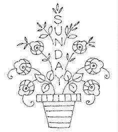 Design 5013 - Days of the Week Embroidery