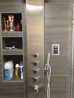 How cool is this high tech #shower from a Devine Bath remodel?