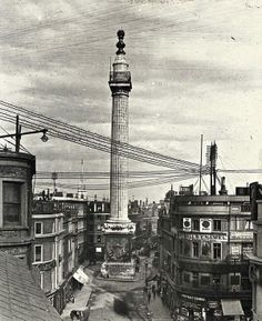 The Monument: from http://spitalfieldslife.com/: glass slides from the hundred year-old collection of the London & Middlesex Archaeological Society at theBishopsgate Institute